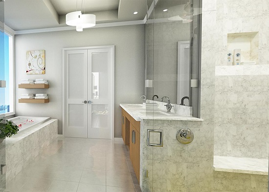 The ensuite master baths will be luxuriously appointed.