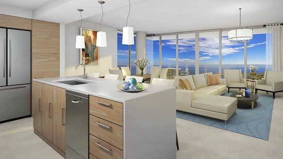 Condos will come with a gourmet kitchen and large island, ideal for entertaining.