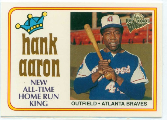 My best trade, a Hank Aaron baseball card