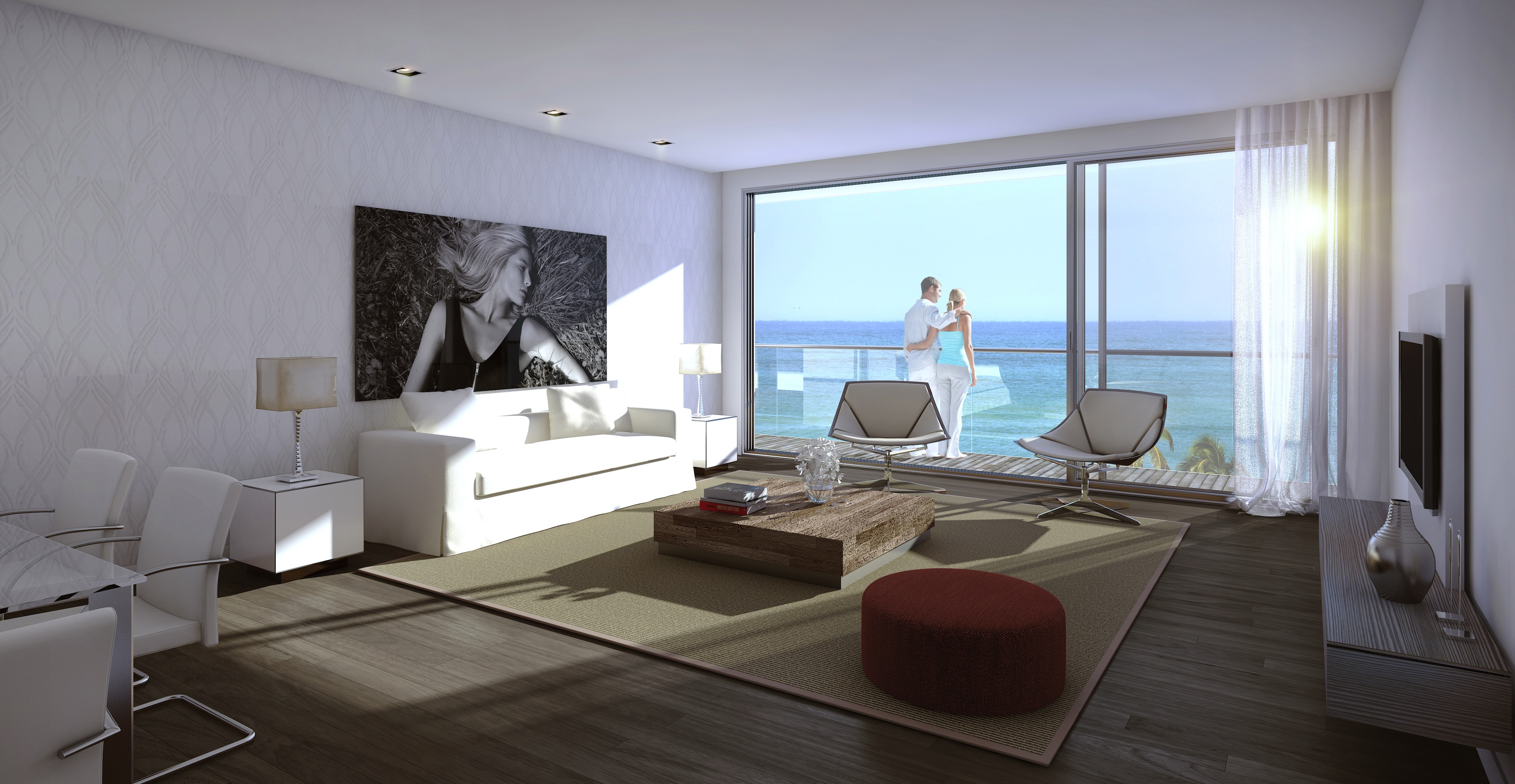 The condo hotel suites will have glass balconies with views of the ocean.