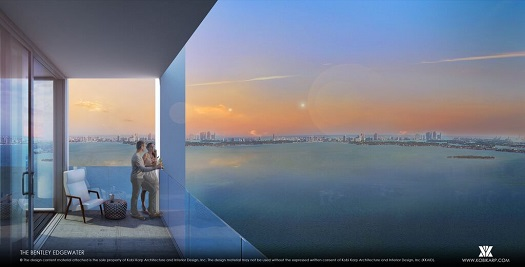 At 32 stories, The Bentley Edgewater will have exceptional views of the Miami skyline.