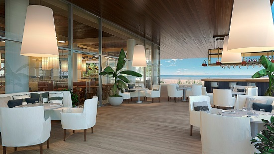 Auberge will have social places where residents can relax and enjoy the ocean breeze.