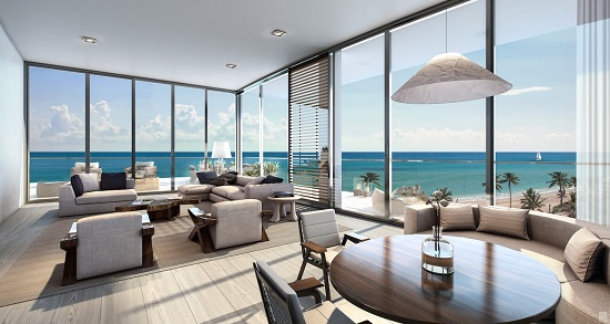 The condo residences will make the most of their panoramic oceanfront views.