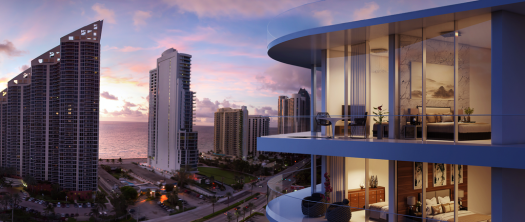 Every condo will have a large terrace with spectacular views of the water.