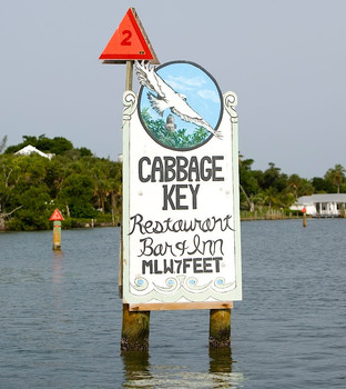 Cabbage Key is a 100-acre tropical island near Ft. Myers, Florida.