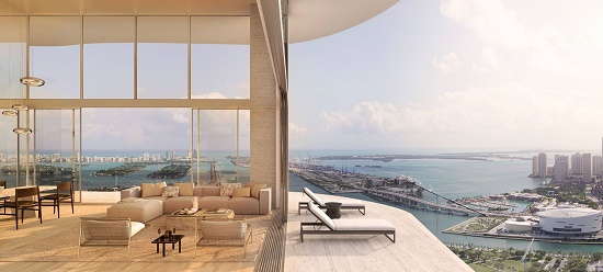 Condos will have floor-to-ceiling windows that offer widespread vistas of Biscayne Bay.