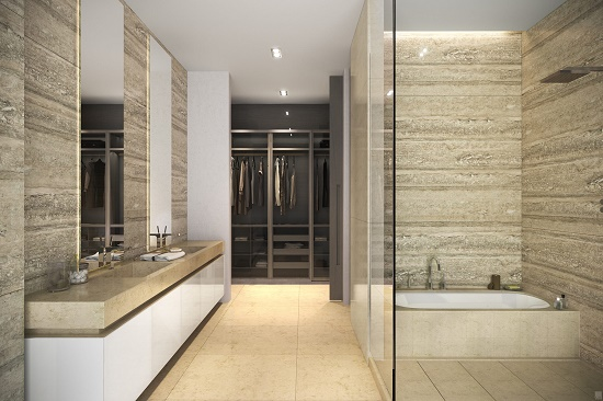 Master baths will have imported porcelain flooring and walls.