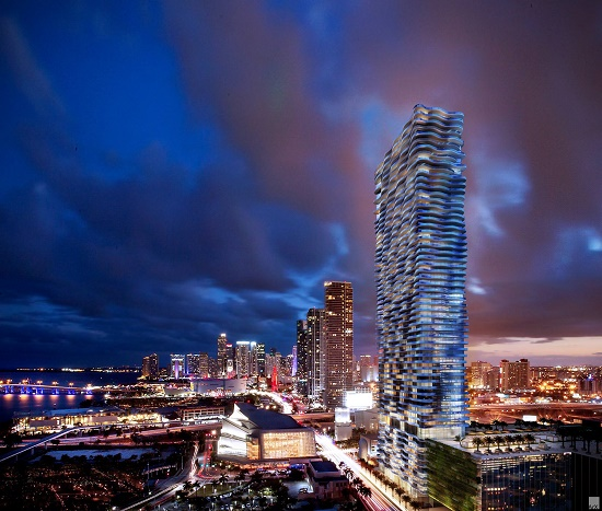 Auberge Miami is the first of what will be a 3-tower residential and retail development.
