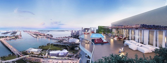 The 60th floor will have a rooftop pool and sun deck offering panoramic views of the area.