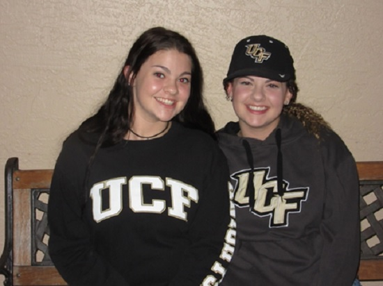 My girls, Lindsay and Haley, headed to UCF in Orlando this summer. Proud papa here!