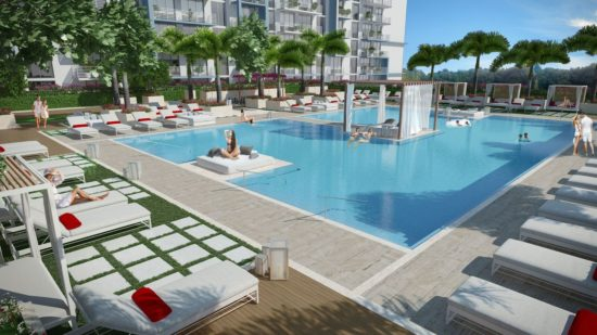 5350 Park will have a large sun deck and a swimming pool with floating beds.