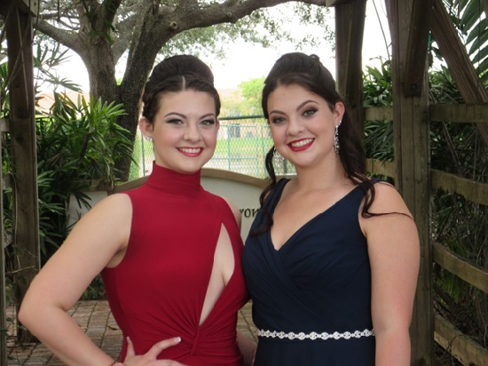 My baby girls, Haley (left) and Lindsay, all dressed up and headed to prom.