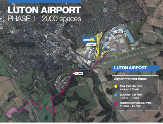Park First Lot-Distance to Airport