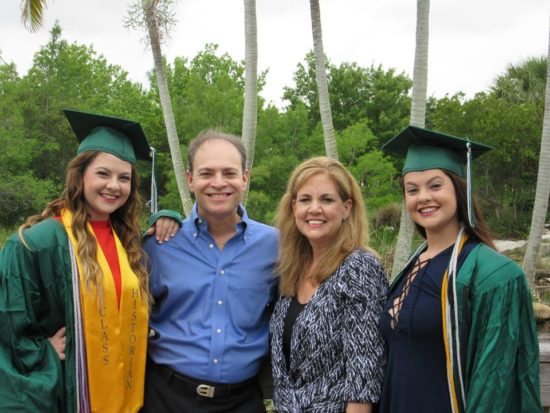 Jackie and I with our high school graduates, Haley (left) and Lindsay (right)