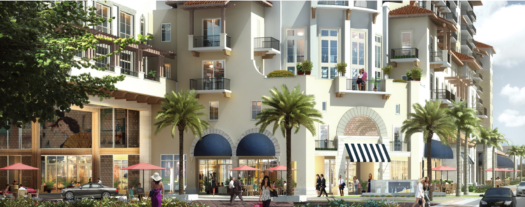 The 86 luxurious residences will sit above The Shoppes at Via Mizner.