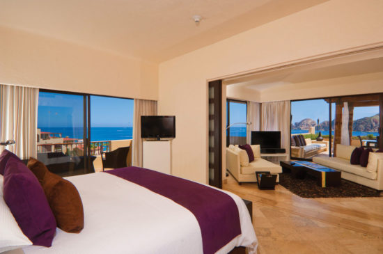 Photo is representative of a typical unit at Melia White Sands Hotel and Spa.