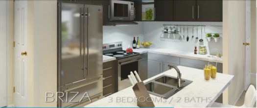 Kitchens come fully equipped with stainless steel Kenmore appliances.