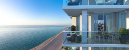 Residents will be able to see the Atlantic and Intracoastal from their balcony.