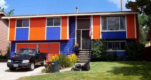 Personally, there's nothing I'd like more than a house in the colors of my alma mater, University of Florida. Go Gators!