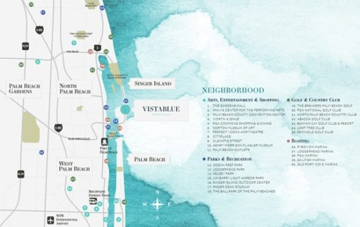 VistaBlue on Singer Island is just minutes from the amenities of North and West Palm Beach.