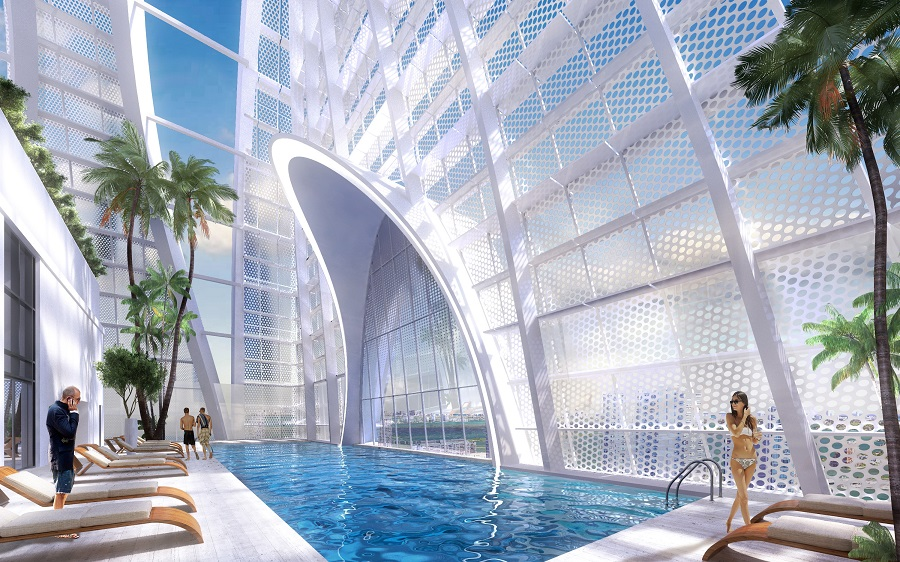Okan Tower Miami pool